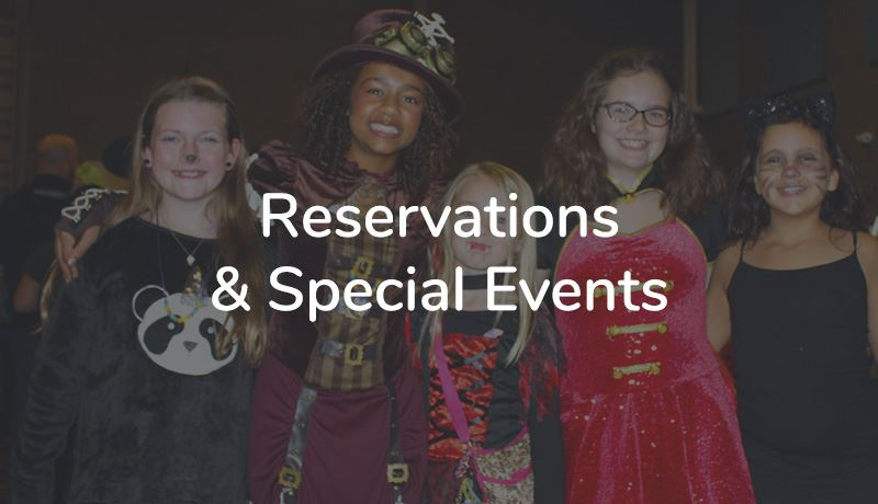 Reservations and Special Events gray