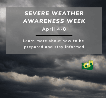 news flash Severe Weather Awareness 370x342