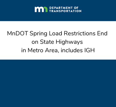 news flash spring load restrictions end