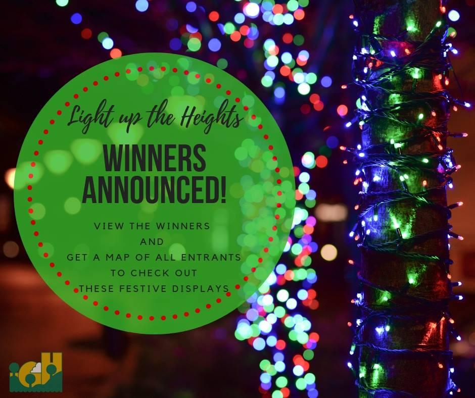 Image Announcing Light Up the Heights Winners Announced
