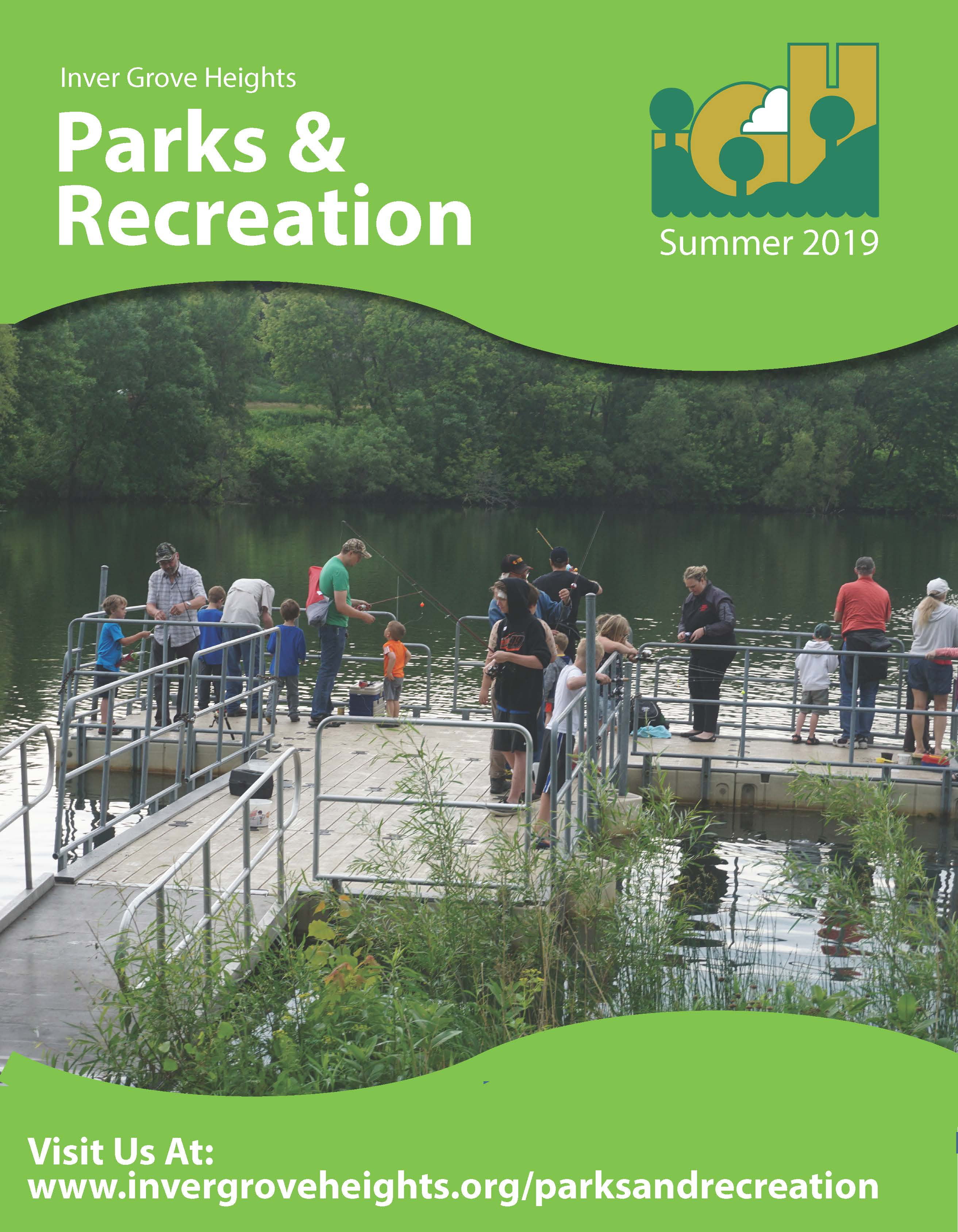 Image of Cover of the Inver Grove Heights Parks & Rec Summer 2019 Brochure
