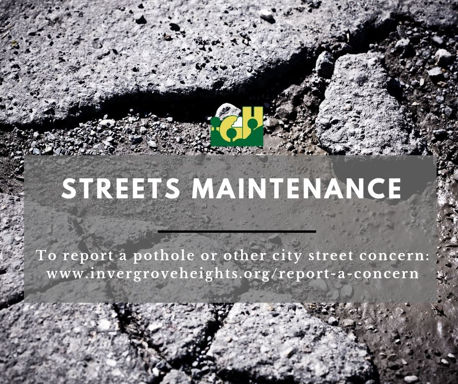 Streets Maintenance graphic