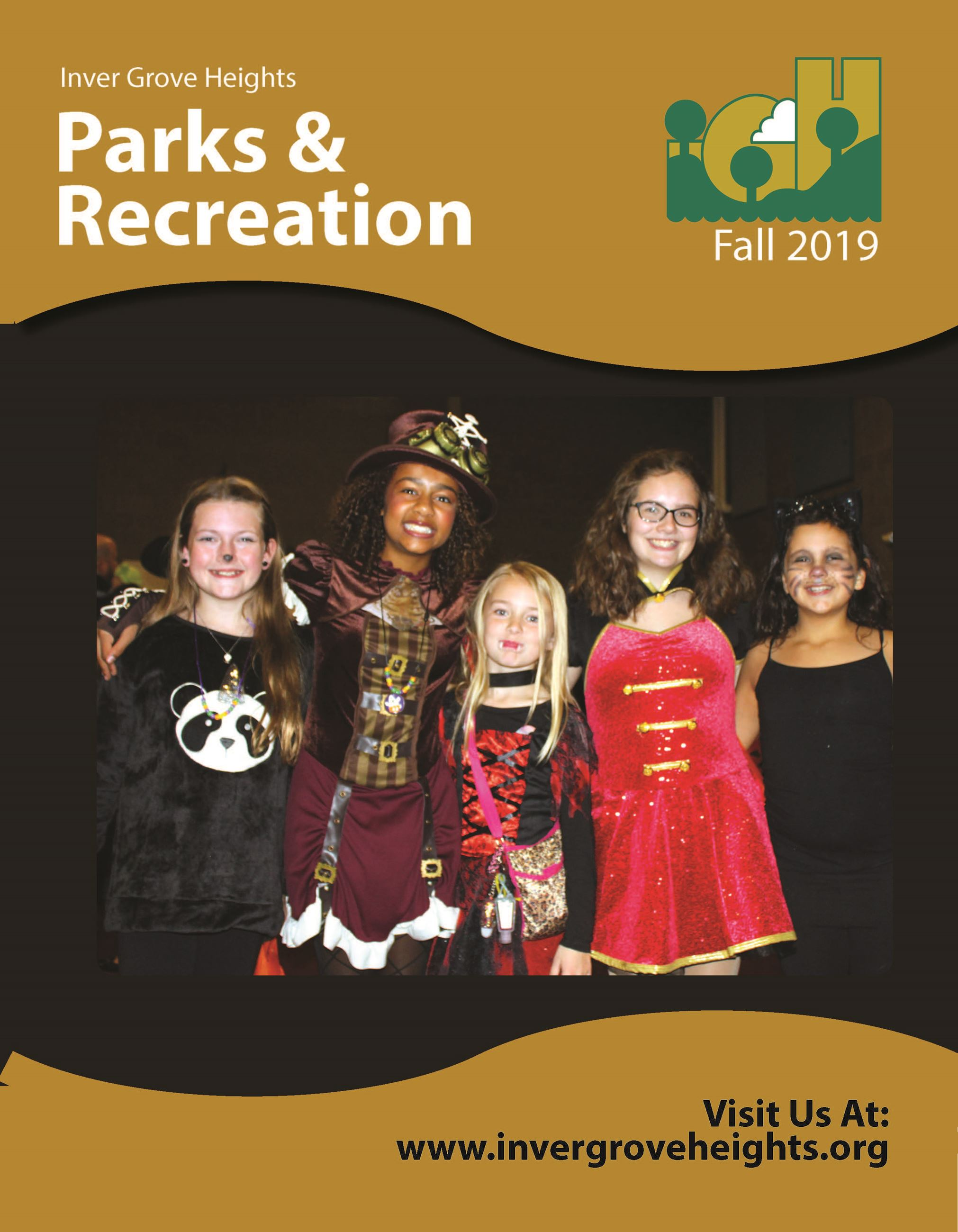 IGH fall 2019 parks and rec brochure front cover