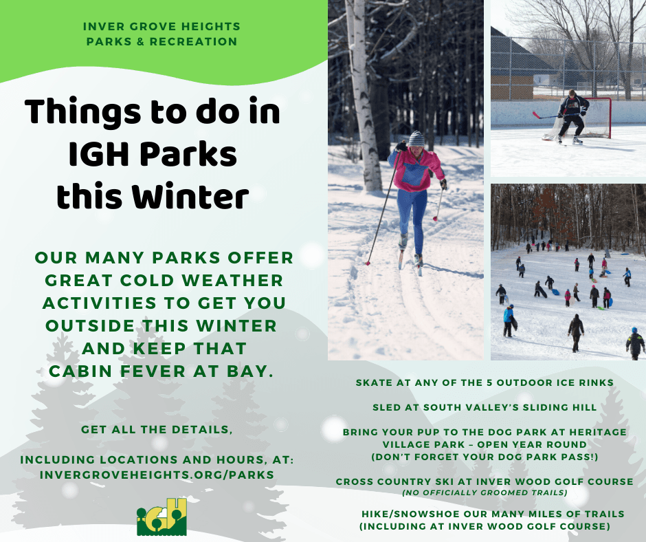 Winter - Things to do in the Parks - Social Media Graphic - FINAL
