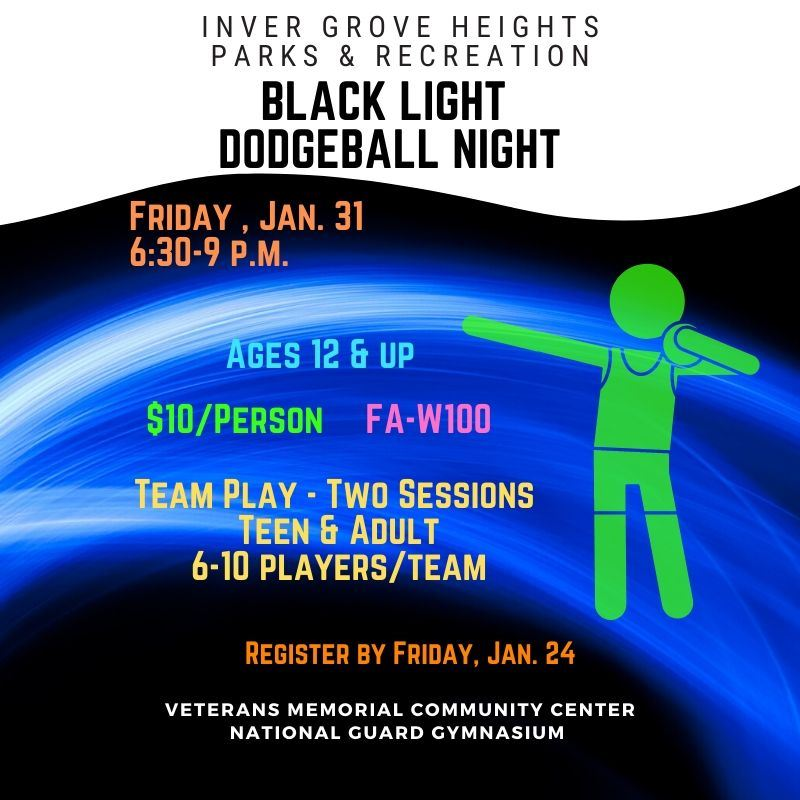 Blacklight Dodgeball Night - Website