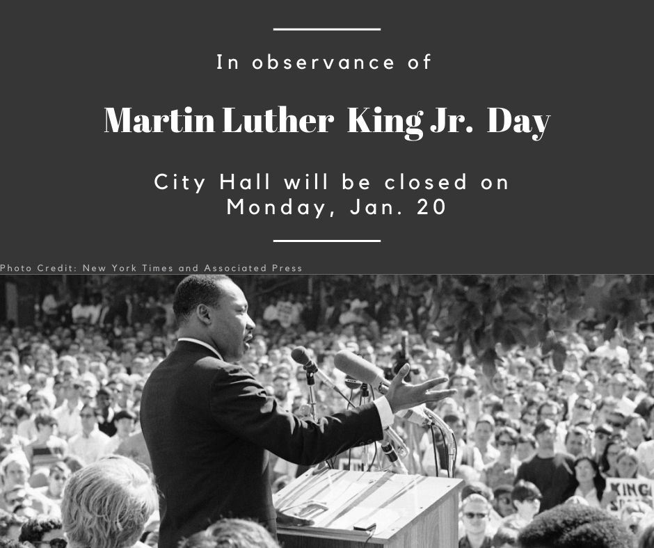MLK Jr Day Holiday - City Hall Hours - option 2