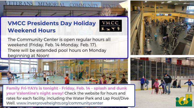 Presidents Day Weekend Hours 2020 - social media