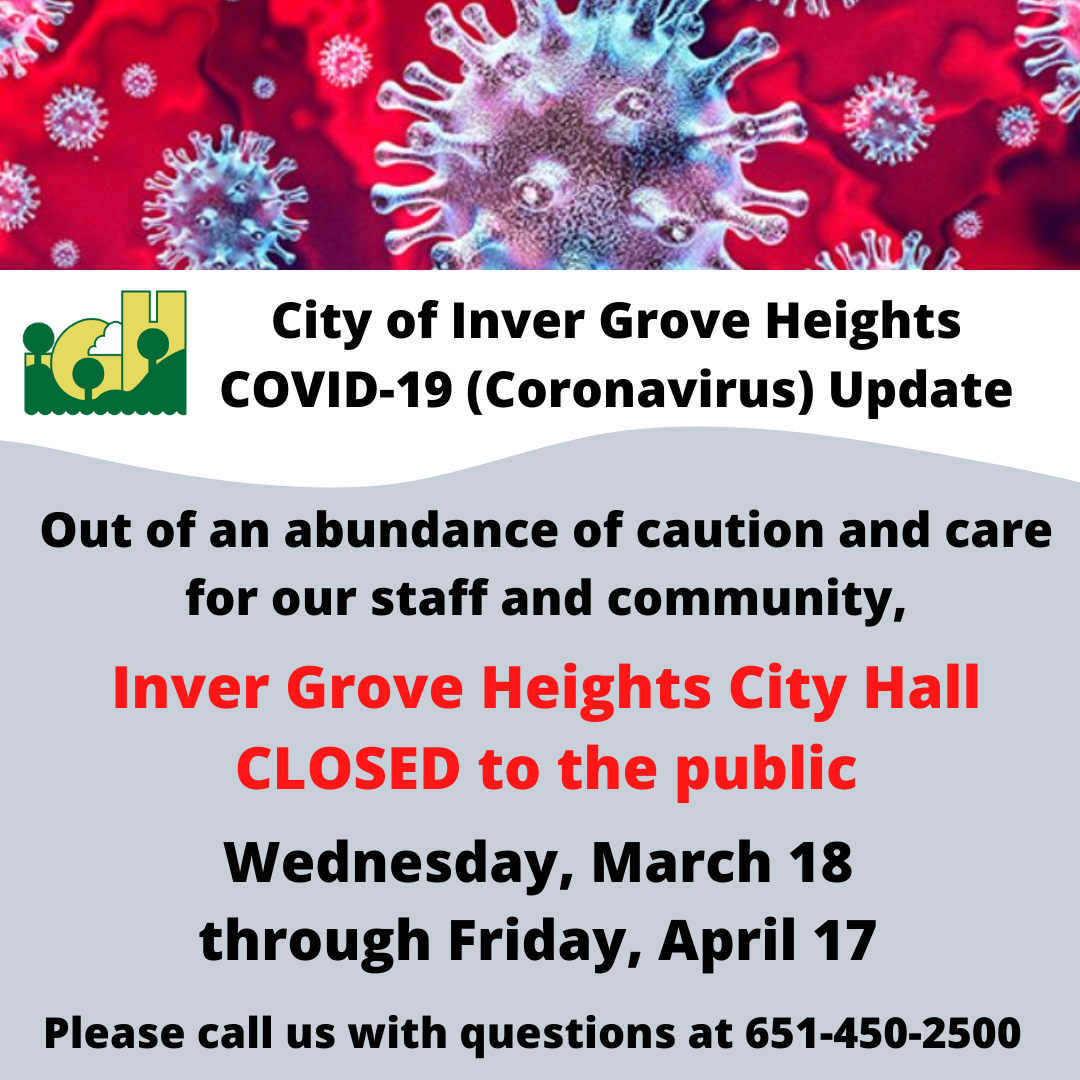 City COVID-19 Update - Social Media Grpahic - City Hall Closure