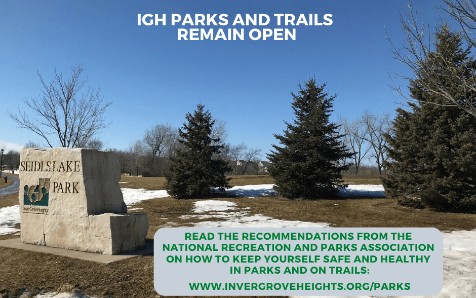 Parks remain open - web and social