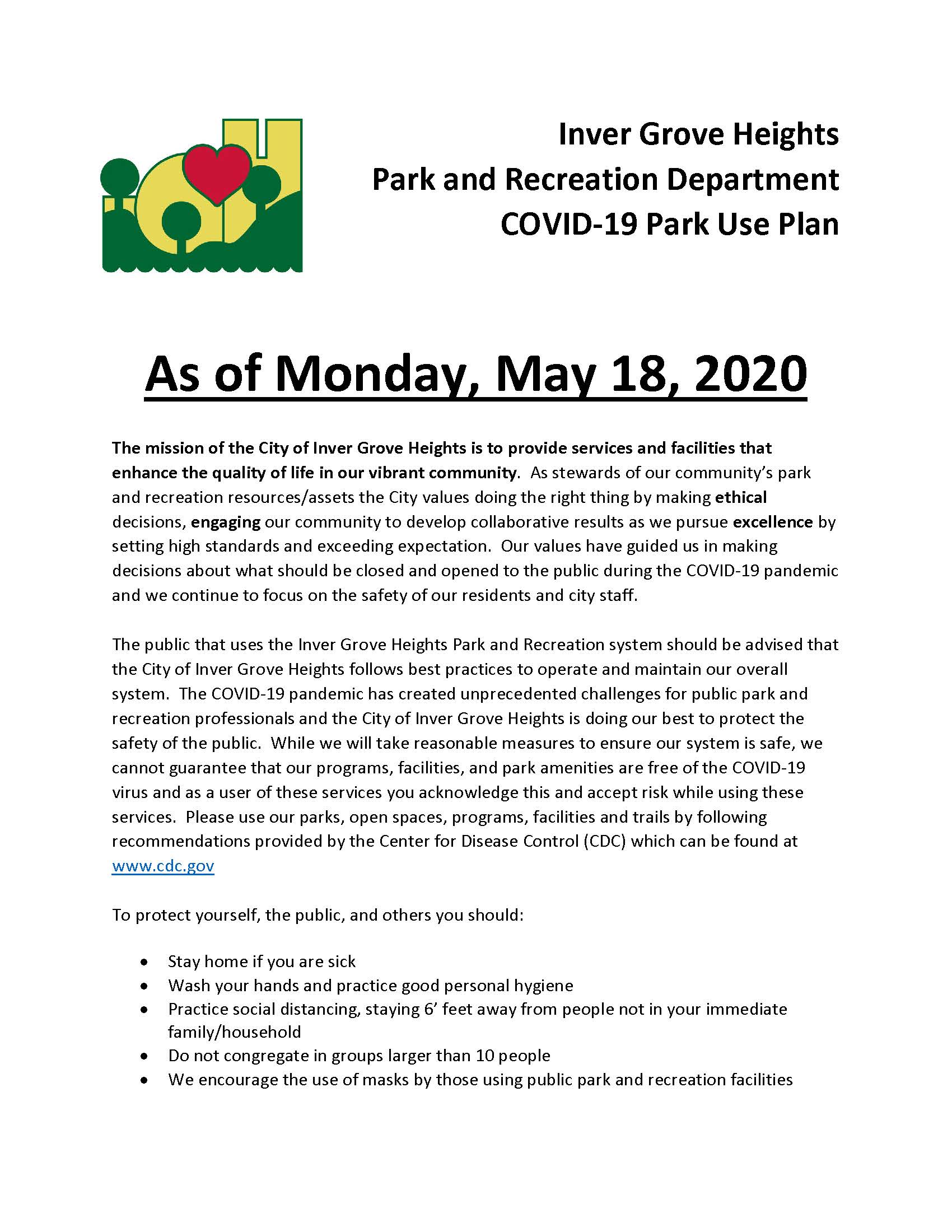 Parks Reopening Final Letter