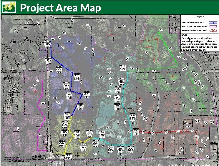 2015-20 robert sewer district project area map