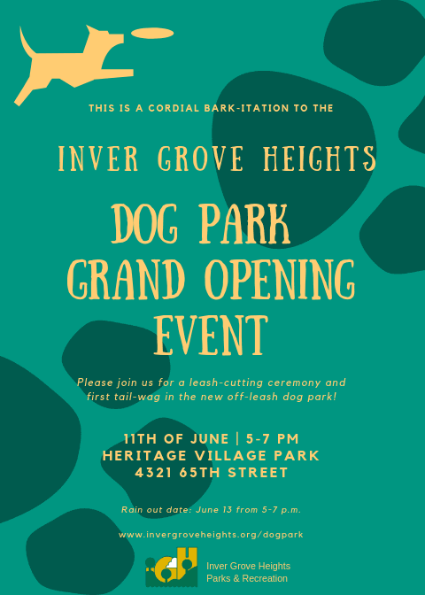 IGH Dog Park Grand Opening Invitation - pg 1 Opens in new window