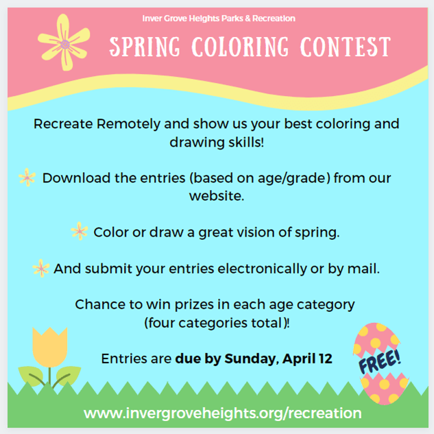 2020 Coloring Contest Instructions