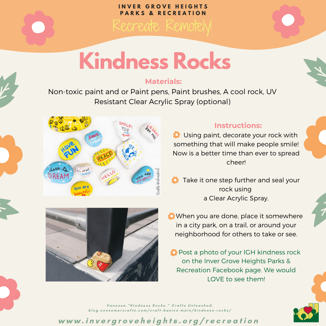 Recreate Remotely Kindness Rock Social Media